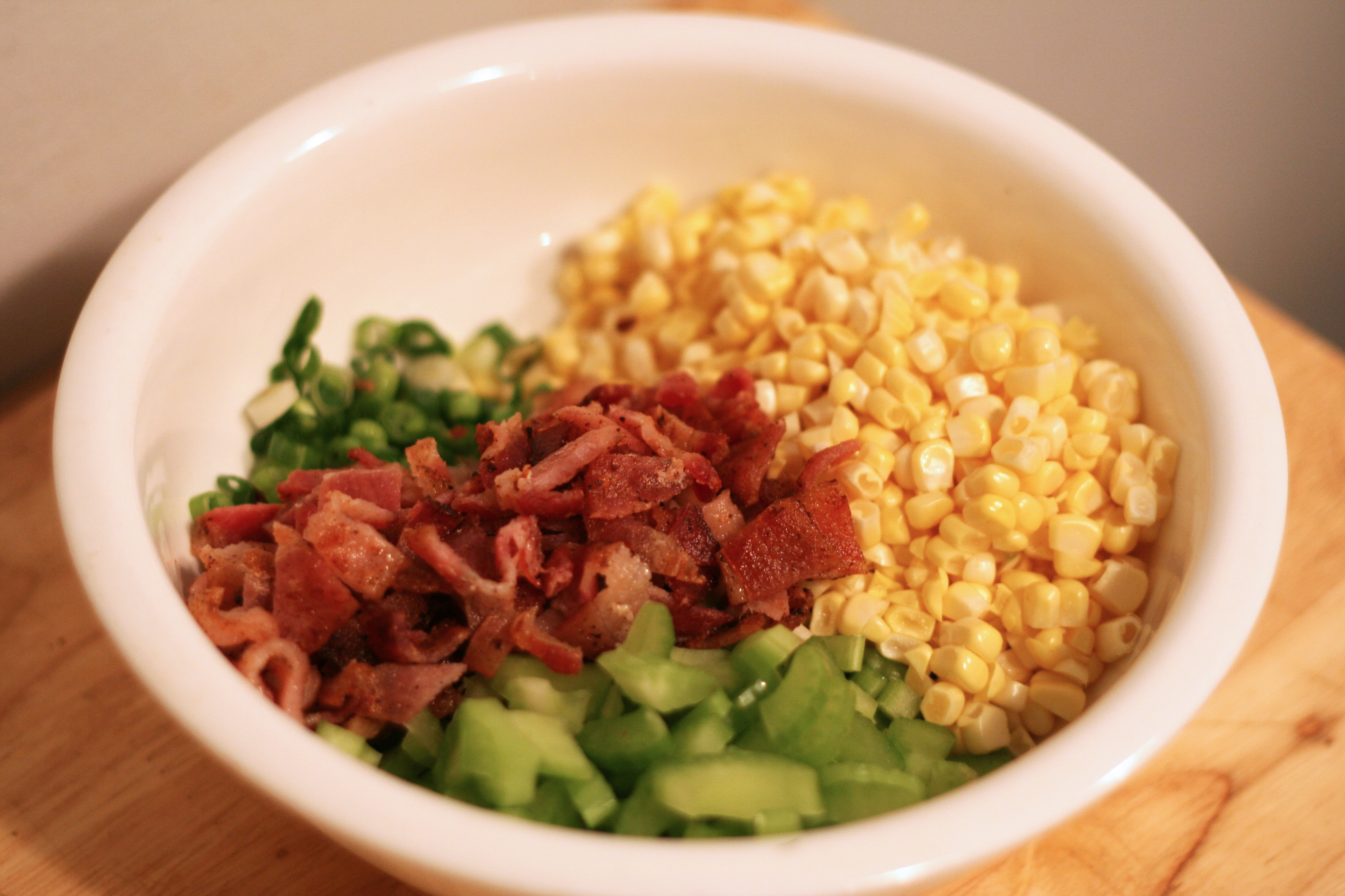 Potato Salad With Corn And Bacon Give Me Meatloaf