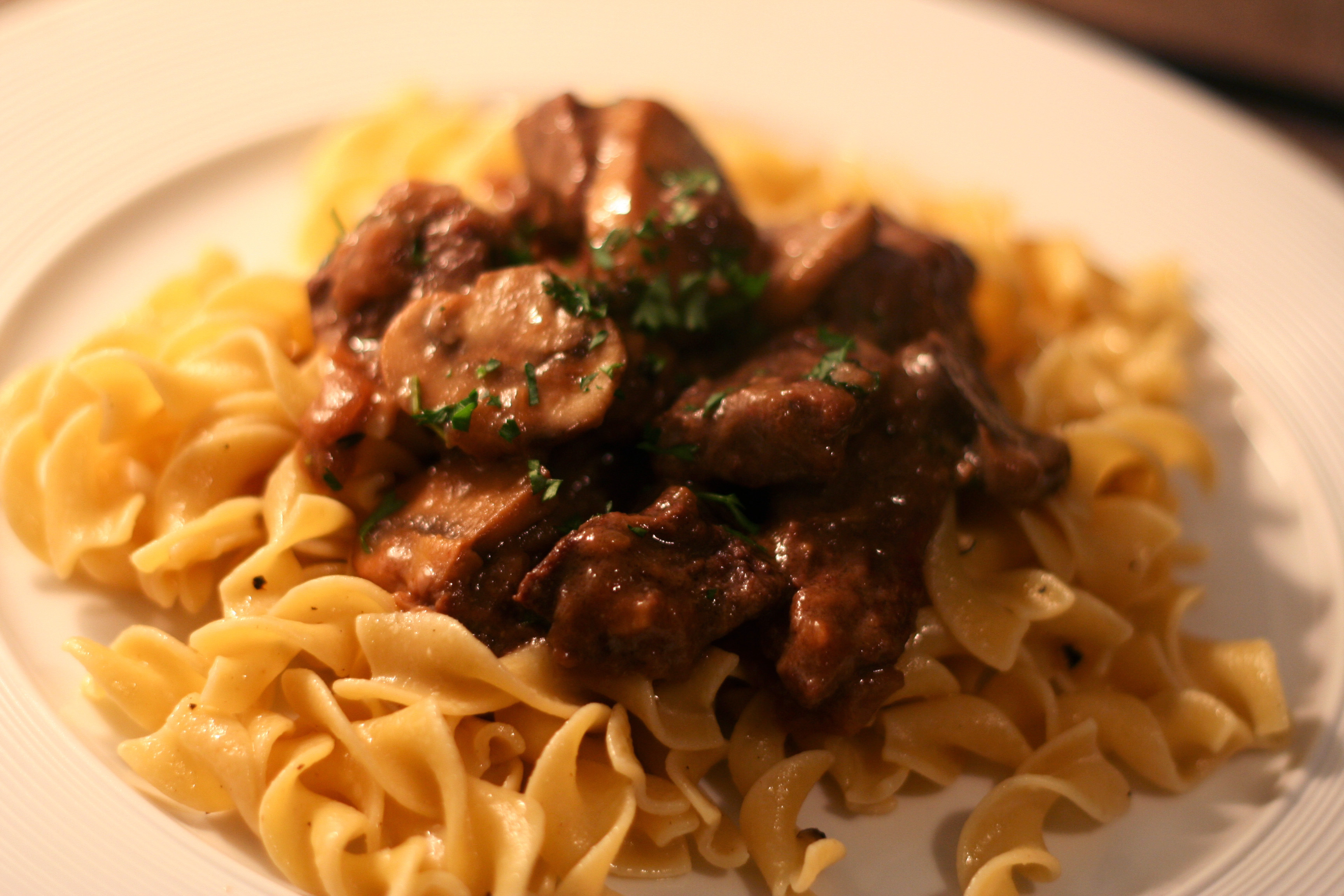 beef stroganoff with buttered noodles | give me meatloaf