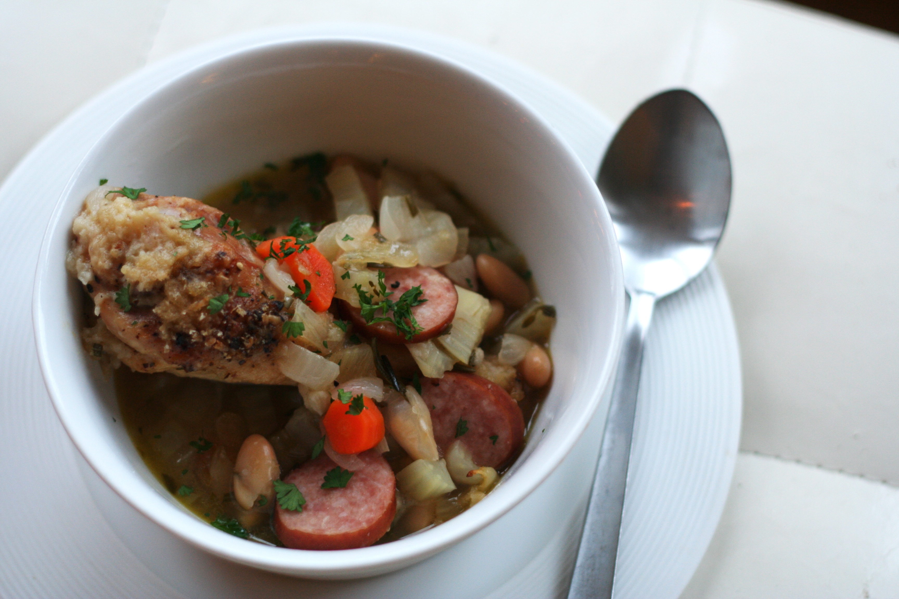 chicken cassoulet with fennel and sausage – Give Me Meatloaf