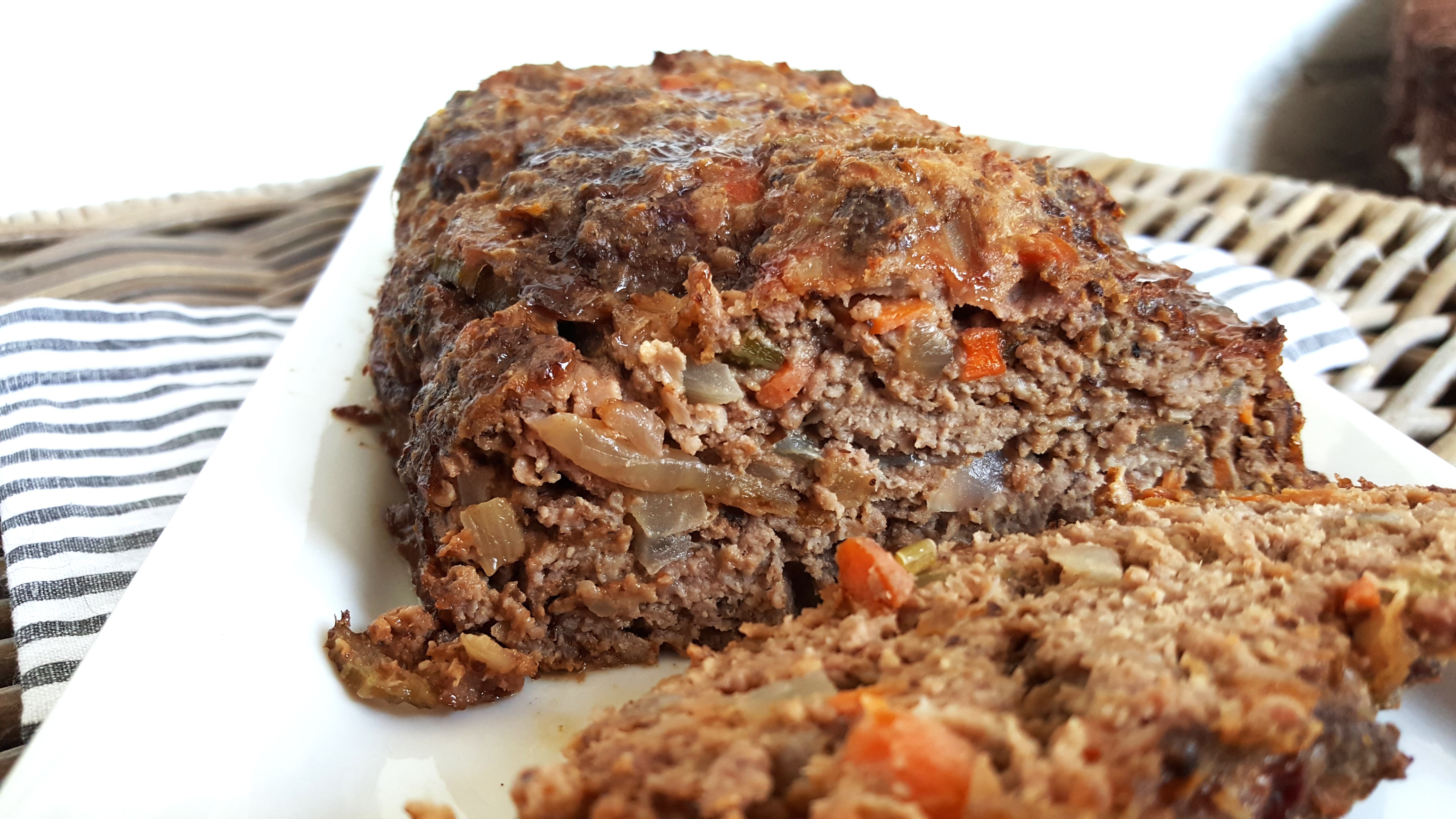 Ina Garten Meatloaf bacon meatloaf with carrots, prunes, and onions – give me meatloaf