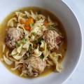 Sage Turkey Meatball and Noodle Soup